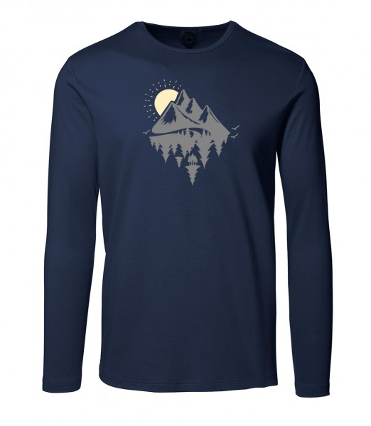 Herren Rundhals Shirt   Langarm – Interlock Jersey Motiv: Dahoam