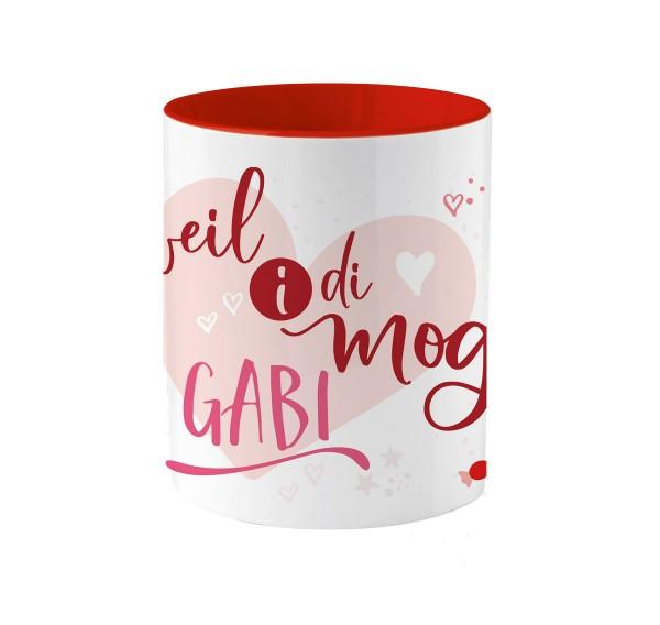 Tasse für die Liebsten | Weil i di mog