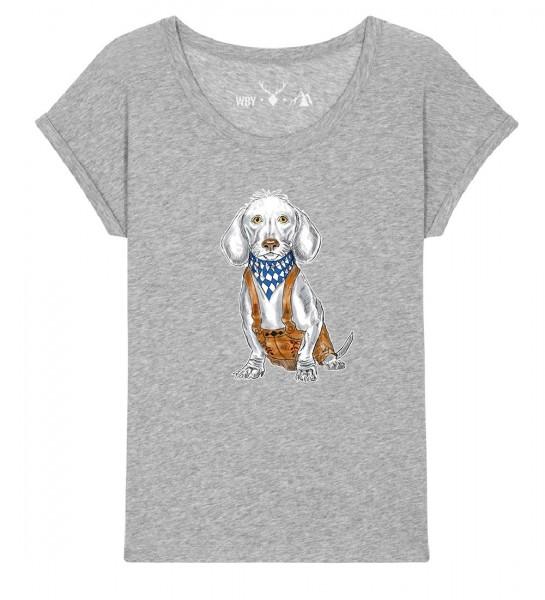 Shirt | weiter geschnitten | Fair Wear | BIO | Motiv: Dackel-Lui
