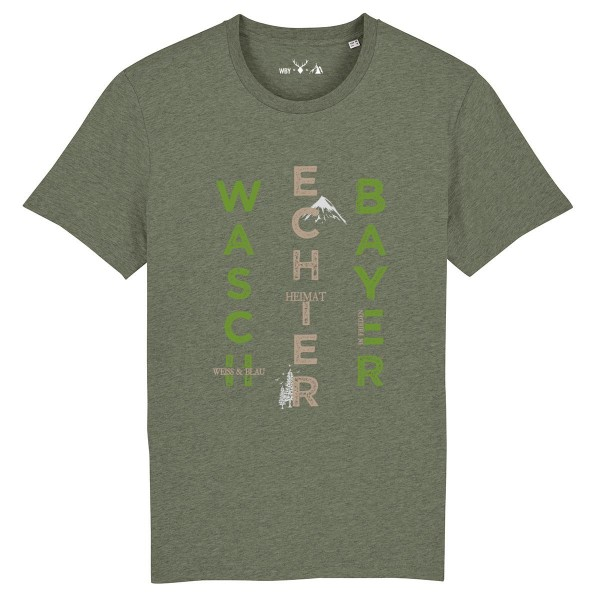 Herren Shirt Rundhals | Fair Wear | BIO | Motiv: Bayern-Berge