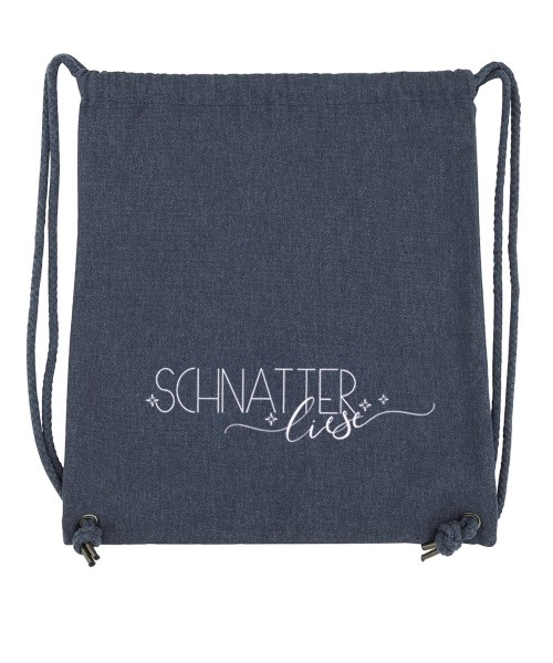 Beuteltasche   Gym Bag   Turnbeutel   Fair Wear   Nachhaltig   Motiv: Schnatter Liese