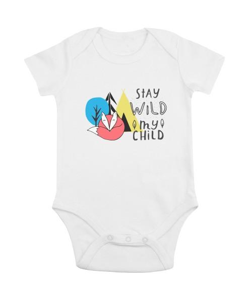 Baby-Bio-Body kurzarm Motiv: Stay-Wild