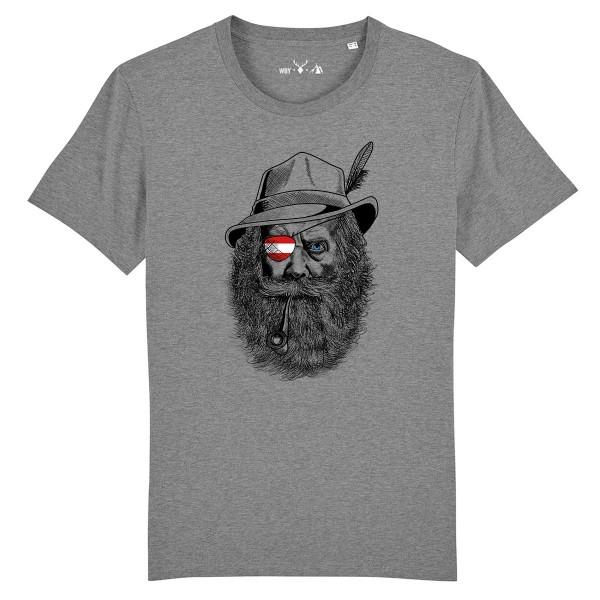 Herren Shirt Rundhals | Fair Wear | BIO | Motiv: Grantler Österreich