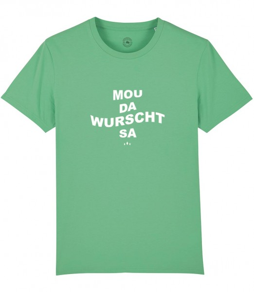 Herren Shirt Rundhals | Fair Wear | BIO | Motiv: Mou da Wurscht sa