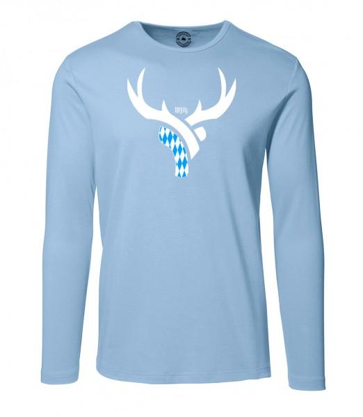 Herren Rundhals Shirt | Langarm – Interlock Jersey Motiv: Bayern Daniel