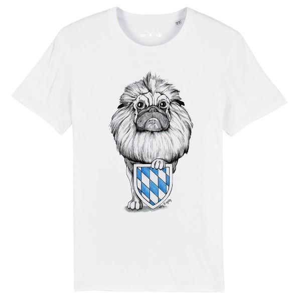 Herren Shirt Rundhals   Fair Wear   BIO   Motiv: Wappen-Mops