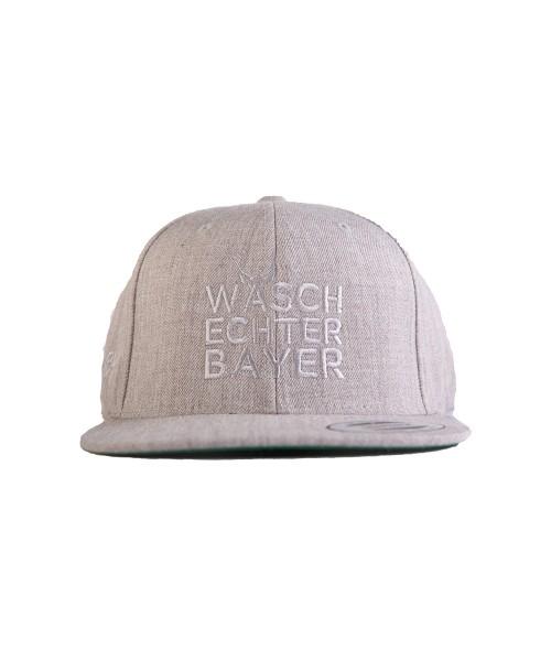 """Snapback Caps Flexfit """"Waschechter Bayer"""" Hellgrau"""