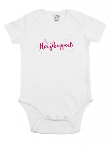 Babybody Mädel – Motiv Herzibopperl in Pink