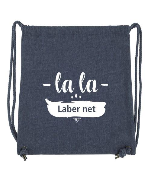 Beuteltasche | Gym Bag | Turnbeutel | Fair Wear | Nachhaltig | Motiv: Lala Laber net