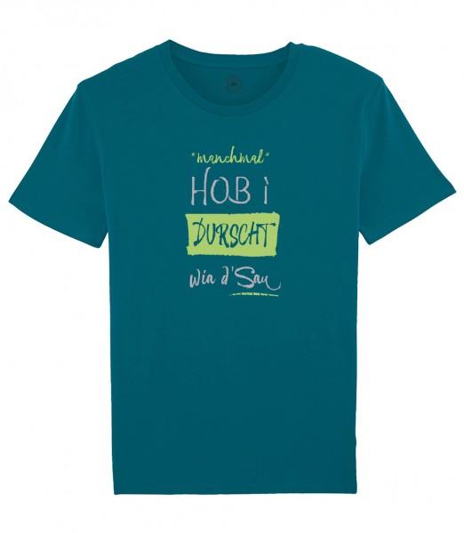 Herren Shirt Rundhals   Fair Wear   Motiv: Durscht wia d Sau