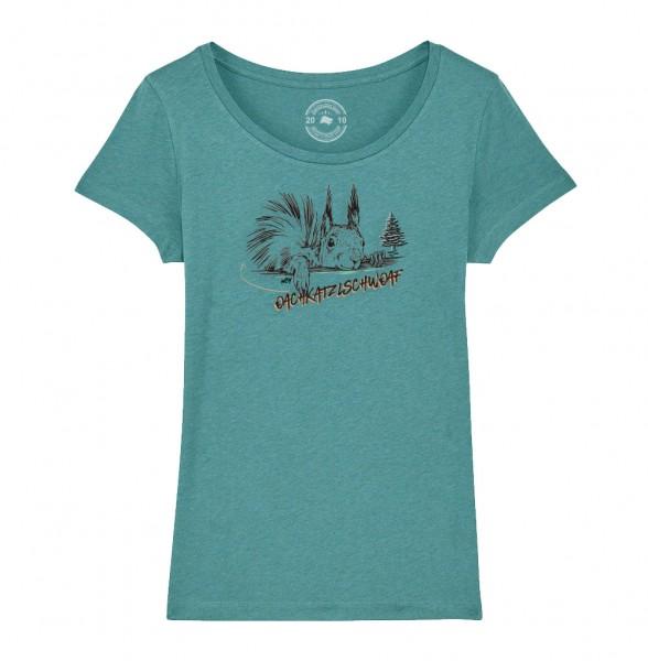 Damen Rundhals T-Shirt | Fair Wear | Motiv: Oachkatzl