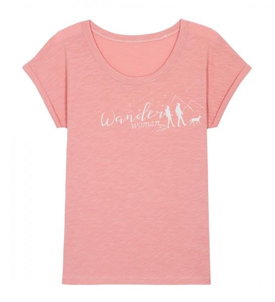 Shirt | weiter geschnitten | Fair Wear | BIO | Motiv: Wanderwoman