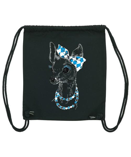 Beuteltasche | Gym Bag | Turnbeutel | Fair Wear | Nachhaltig | Motiv: Winter-Bixn