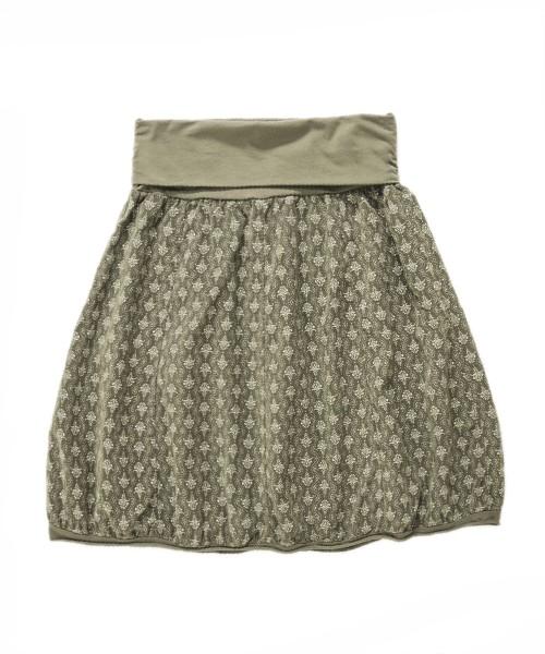 Ballonrock | Baumwolle-Cord-Optik | Bund dehnbar 66-110cm | Farbe Pastell-Olive