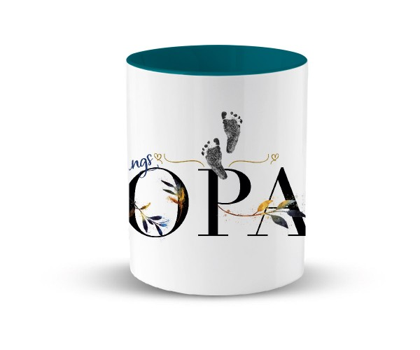 Tasse Keramik Geschenk | in 2 Farben | Motiv: Lieblings Opa