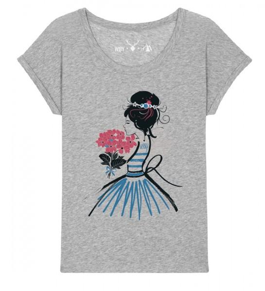 Shirt | weiter geschnitten | Fair Wear | BIO | Motiv: Blumenfee