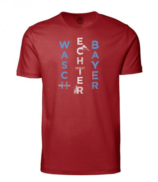 Herren Rundhals Shirt | Kurzarm – Interlock Jersey Motiv: Bayern Berg