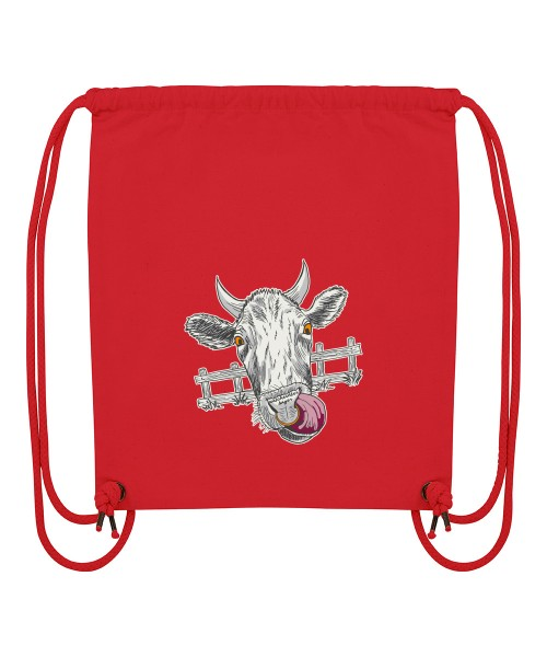 Beuteltasche | Gym Bag | Turnbeutel | Fair Wear | Nachhaltig | Motiv: Muh-Kuh