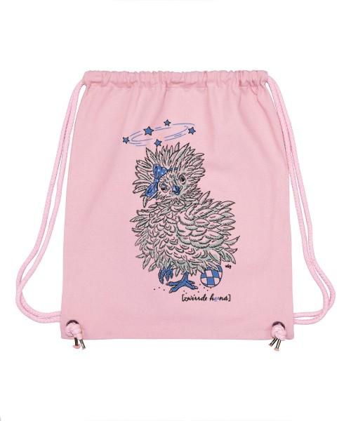 Beuteltasche | Gym Bag | Turnbeutel | Fair Wear | Nachhaltig | Motiv: Zwirrde Henne