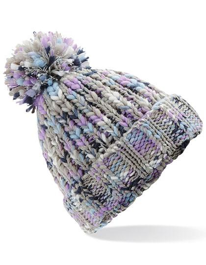 Bommelmütze Damen Bunte Farben | Winter | Fleeceband | Ein echter Hingucker