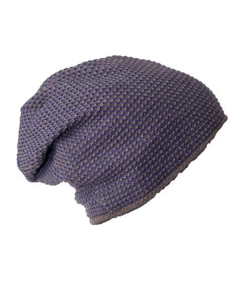 UNISEX Mütze | blaues Perlmuster | Flleece ganz | Schlumpfig