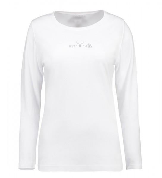 Damen Shirt Langarm Rundhals   Interlock Jersey   Motiv: WBY