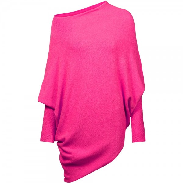 Poncho vielseitig kombinierbar | extrem weich | Modell: Katharina Farbe Pink