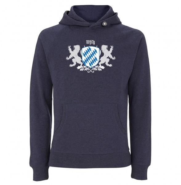 Trachtenhoodie Herren (Unisex) | Fair Wear | Motiv: Bayernwappen