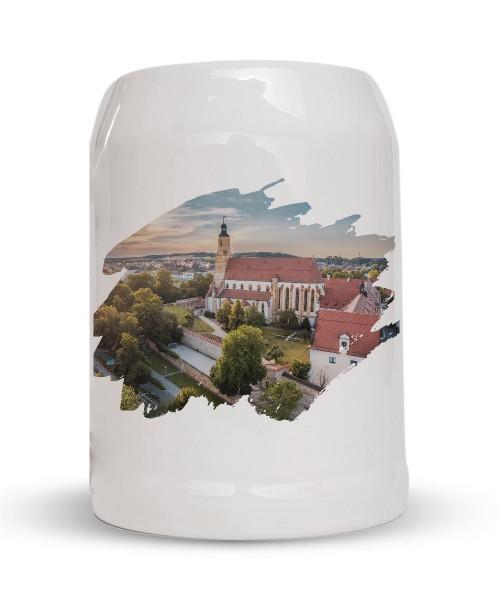Bierkrug - Steinkrug - Motiv: St. Georg Amberg