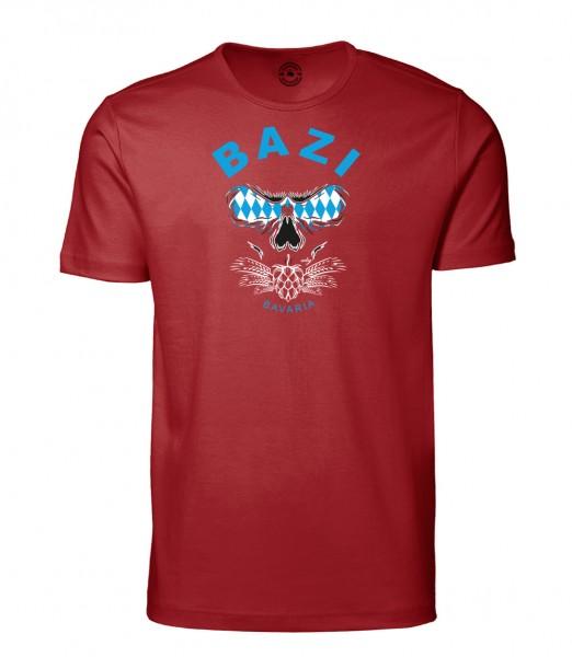 Herren Rundhals Shirt | Kurzarm – Interlock Jersey Motiv: Bazi