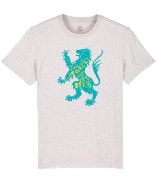 Herren Shirt Rundhals   Fair Wear   Motiv: Sommer-Löwe