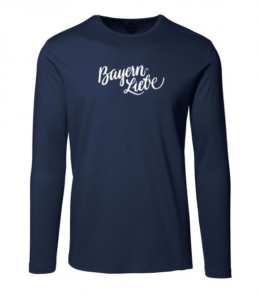 Herren Rundhals Shirt | Langarm – Interlock Jersey Motiv: Bayernliebe