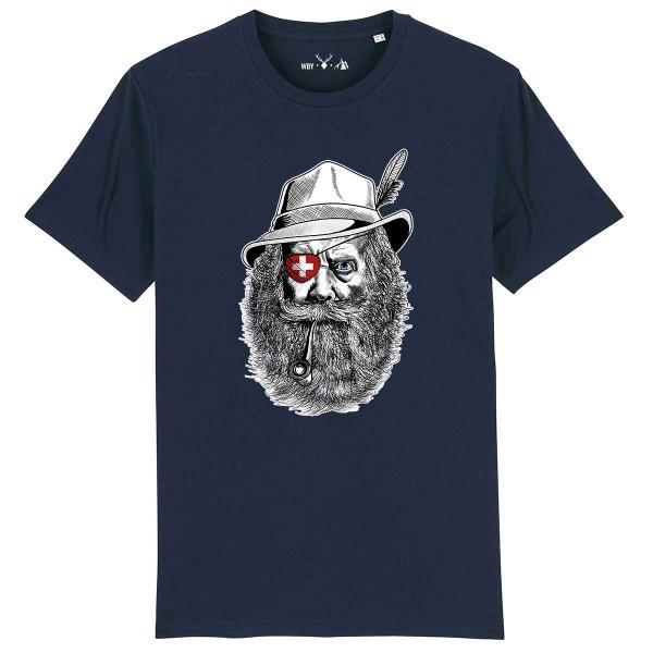Herren Shirt Rundhals | Fair Wear | BIO | Motiv: Grantler Schweiz