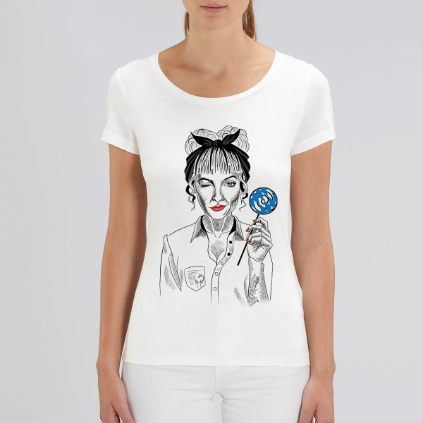 Damen Rundhals T-Shirt | Fair Wear | BIO | Motiv: Rocker Billy-Lilly