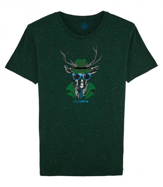 Herren Shirt Rundhals   Fair Wear   Motiv: Leckomio