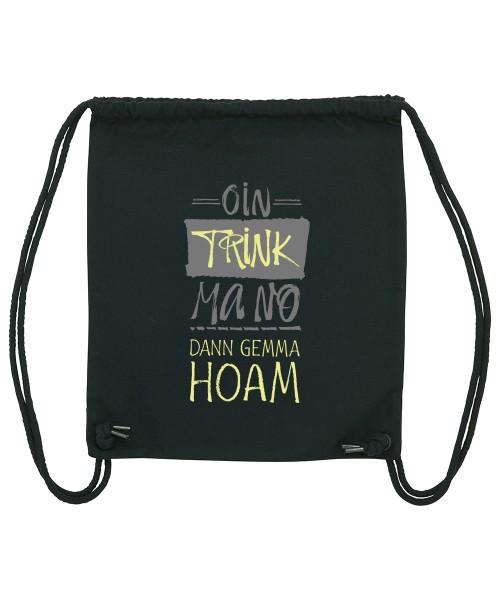 Beuteltasche | Gym Bag | Turnbeutel | Fair Wear | Nachhaltig | Motiv: Oin trink ma no