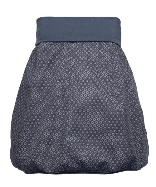 Ballonrock | Baumwolle Gänseblümchen | Bund dehnbar 66-110cm | Farbe Dunkelblau