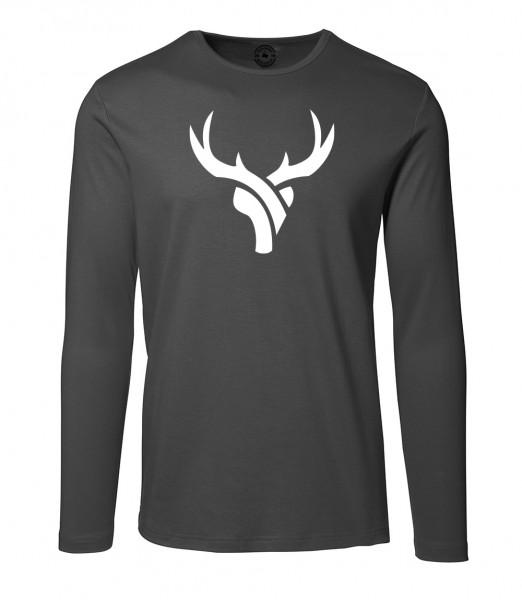 Herren Rundhals Shirt | Langarm – Interlock Jersey Motiv: Daniel-Hirsch