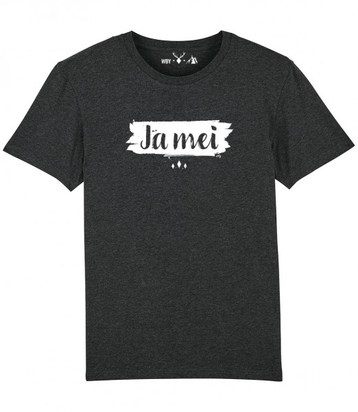 Herren Shirt Rundhals   Fair Wear   BIO   Motiv: JA MEI