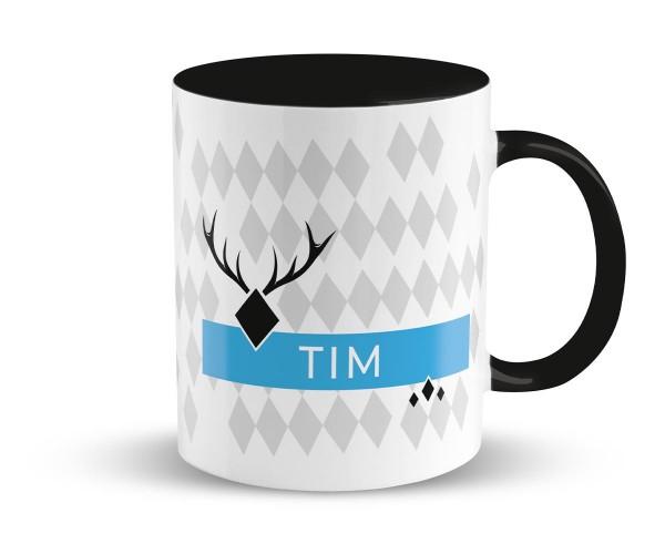 Kaffeetasse Stänkern | Bedruckt | Personalisiert | Schwarz