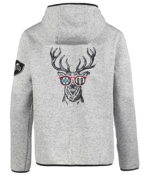 Jacke Herren Kapuze | Strickfleece | 320 g/m² | bestickt | Motiv: Munich-Deer