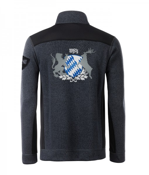 Kombijacke Strickfleece & Softshell Herren | 280 g/m² | Motiv: Bayern Wappen