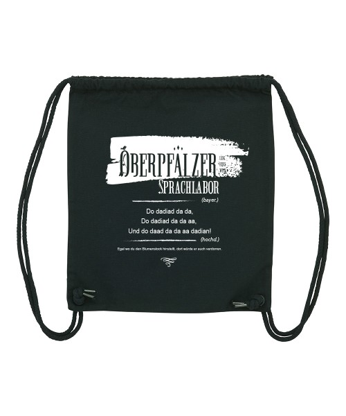 Beuteltasche   Gym Bag   Turnbeutel   Fair Wear   Nachhaltig   Motiv: Oberpfälzer Sprachlabor