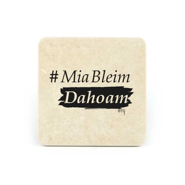 Bierfilz | Steinfützl | Bedruck | Handgefertigt – Motiv #MiaBleimDahoam