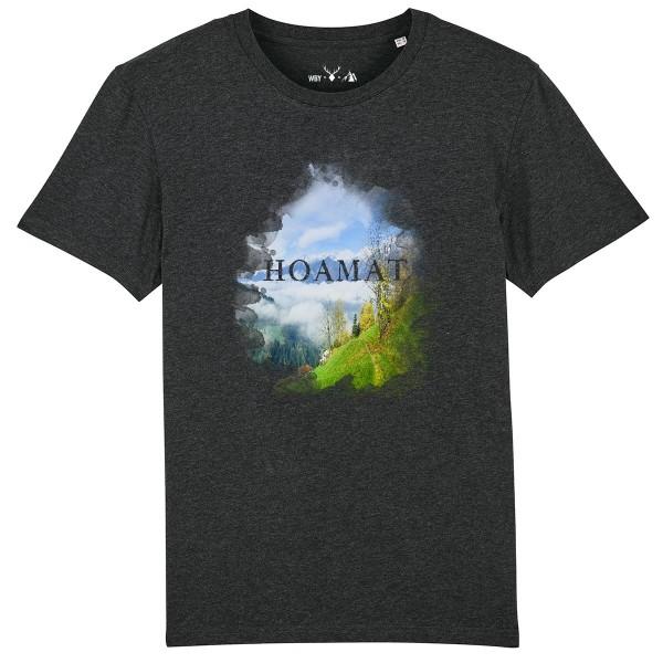 Herren Shirt Rundhals   Fair Wear   BIO   Motiv: Hoamat