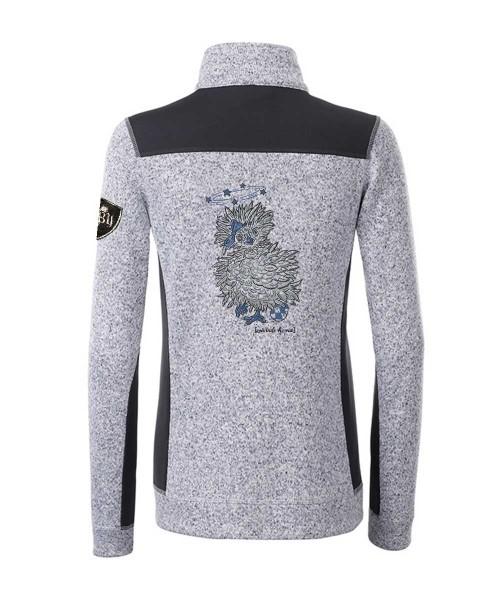 Kombijacke Strickfleece & Softshell Damen   280 g/m²   Motiv: Zwirrde-Henne