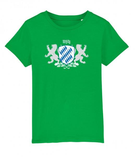 Shirt für Jungs & Mädels   Unisex-Schnitt   Fair Wear   Motiv: Bayern Wappen