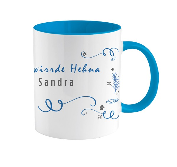 Kaffeetasse Zwirrde Henne | Bedruckt | Personalisiert |