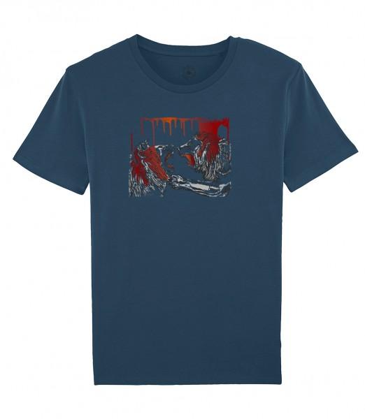 Herren Shirt Rundhals   Fair Wear   Motiv: Lion-Fight