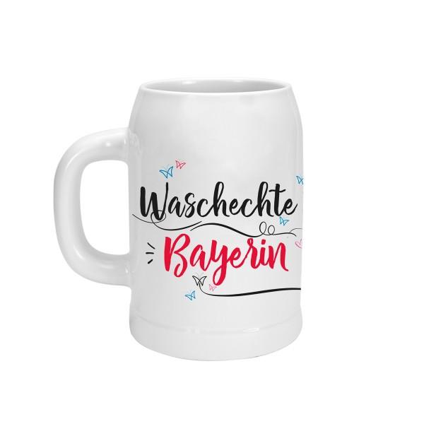 Bierkrug Bayern Waschechte Bayerin